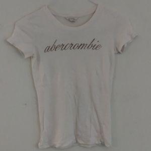 Abercrombie short sleeve tee shirt white